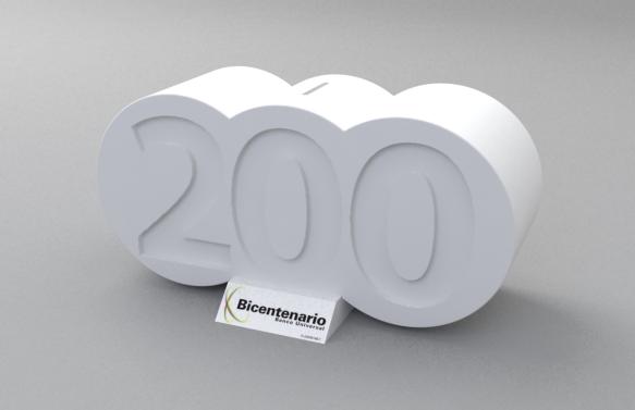Alcancía Banco Bicentenario